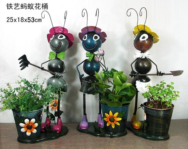 Formiche metallo all 39 ingrosso vasi da fiori formiche for Decorazioni in ferro per giardino