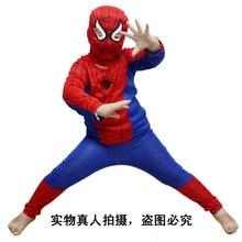 Hot Halloween Spider Man Spider-Man Suit Vestuário Vestuário Spiderman Costume Crianças Crianças Meninos New Livre Shiping