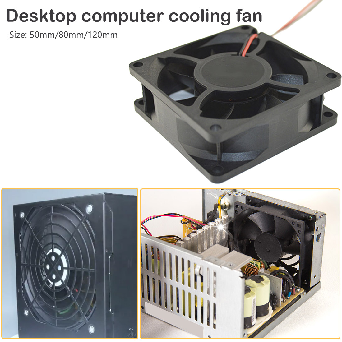 <font><b>12V</b></font> DC <font><b>fan</b></font> 2 Pin Connector Cooling <font><b>Fan</b></font> for Computer Case CPU Cooler Radiator Computer Accessories CPU Cooling <font><b>Fans</b></font> 50 80 <font><b>120</b></font> <font><b>mm</b></font> image