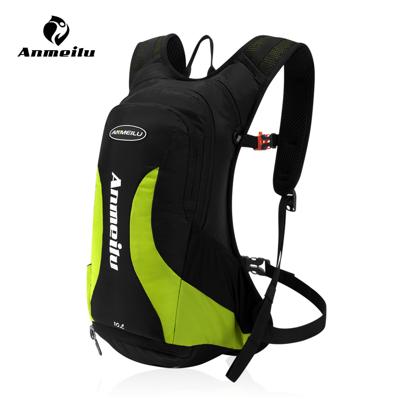 Anmeilu 10L Bike Bag Outdoor Sports Bicycle Water Bags Camping Running Cycling Hydration Backpack +Helmet Net +Rainproof Cover roswheel multi function outdoor sports bicycle bag bike backpack 15l with waterproof cover helmet cover hiking accessories