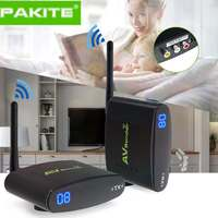 100 Meter 2.4GHz Wireless AV Sender TV Audio Video 1 Transmitter 1 Receiver Black 50dB/min Transmission Distance PAT 335