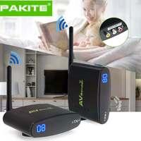 100 Meter 2.4GHz Wireless AV Sender TV Audio Video 1 Transmitter 1 Receiver Black 50dB/min Transmission Distance PAT 335