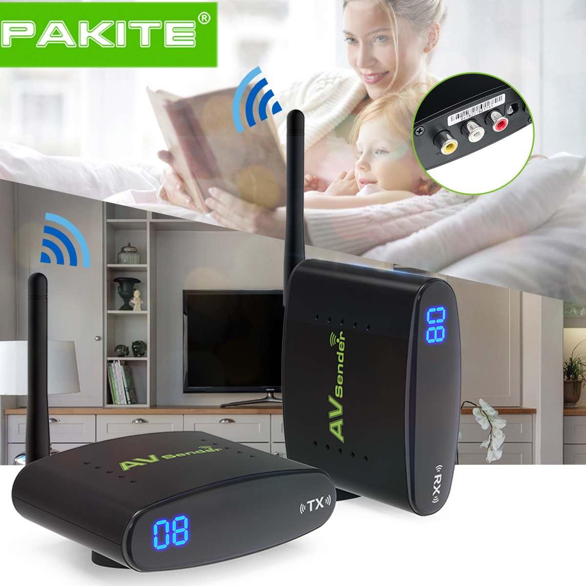 100 mètre 2.4 GHz sans fil AV émetteur TV Audio vidéo 1 émetteur 1 récepteur noir 50dB/min Distance de Transmission PAT-335