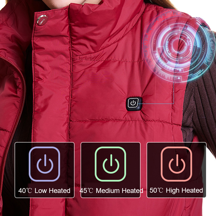 Image 5 - Men/Women S XXXXL USB Charging Electric Heated Vest Winter Heating Vest Temperature Control Safety Clothing for Outdoor Work-in Safety Clothing from Security & Protection
