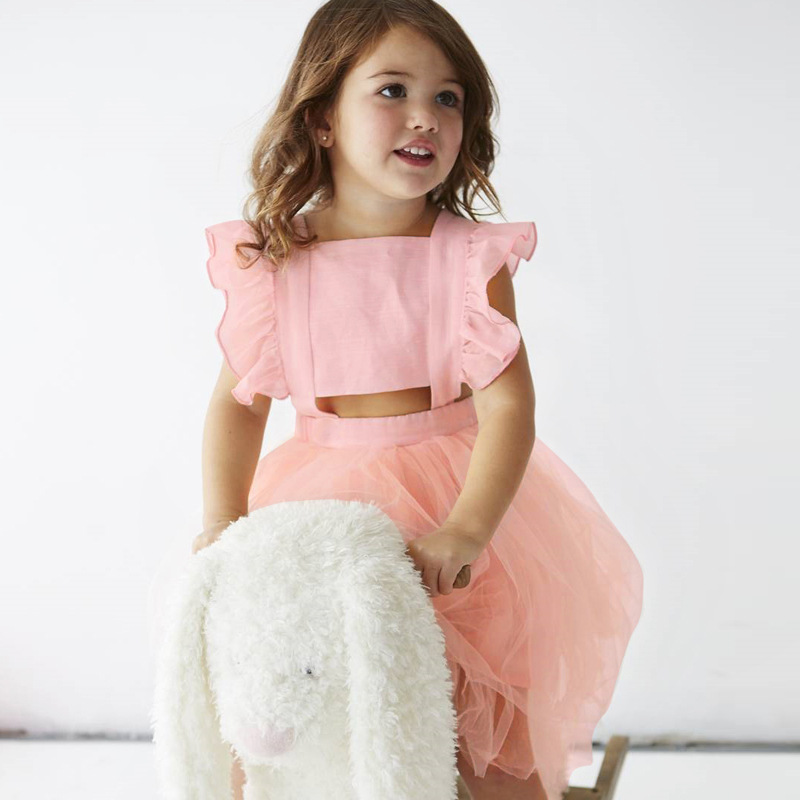 2018 New Arrival Summer Girl Dress Gir Fly - sleeve Bow - back Baby Dresses Kid Clothes Children Clothing Dress For Girls ...