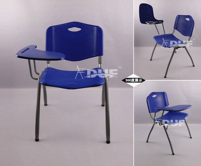 stacking tablet arm chair lecture chair with writing tablet metal