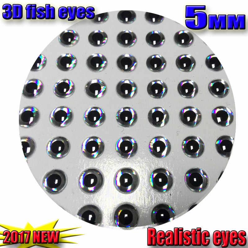 2017new 3d 낚시 유혹 눈 비행 눈 크기 선택: 3mm-16mm 수량: 500 개/몫 현실적인 인공 낚시 눈 색상: 은색
