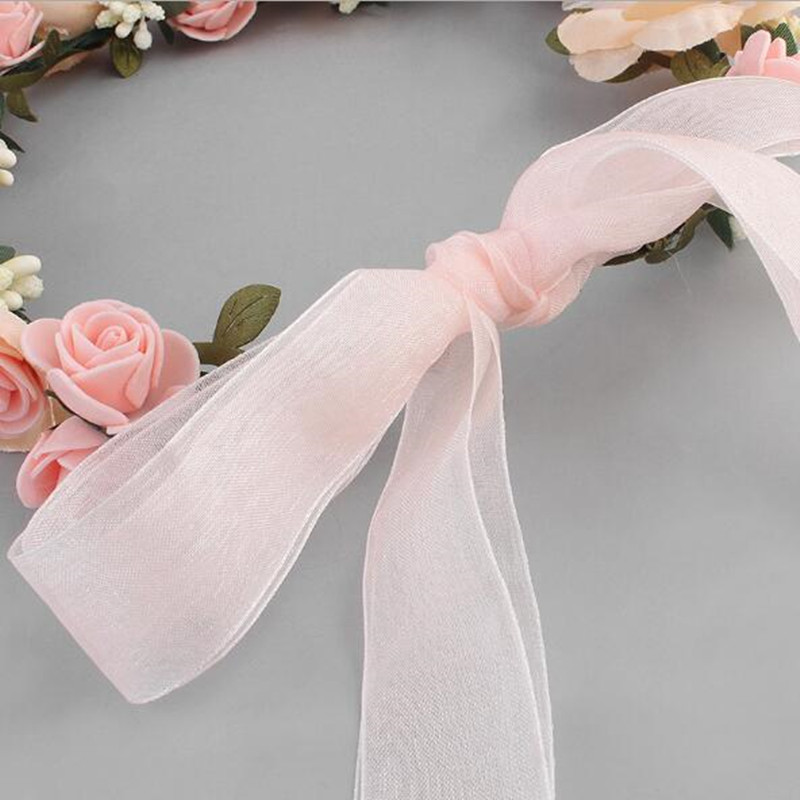 Bridal Hair Wreath Women Flower Headband Girls Hairwear Birthday Party Beach Wedding Hair Accessories Halloween Decoration in Wreaths Garlands from Home Garden