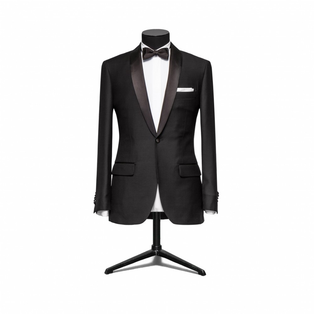 2017 Fashion bridegroom Black Smoking jacket / wedding tuxedo for men 3 pieces suits/cheap groom wear suits(pants+jacket+bowtie)