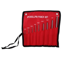 New 9pcs Round Head Pins Punch Set size 1/16 5/64 3/32 1/8 5/32 3/16 7/32 1/4 5/16 Steel Pins Grip Roll Pin Punch Tools
