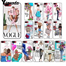 Yinuoda VOGUE Christmas Princess Girl Female boss coffee Phone Cover for Apple iPhone 8 7 6 6S Plus X XS MAX 5 5S SE XR