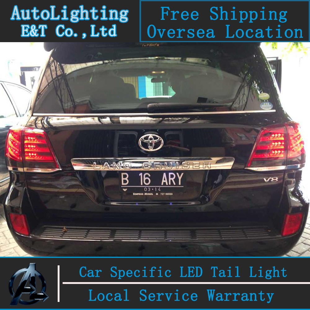 Shipping Option LED Tail Lights for Toyota Land Cruiser tail lights 2010-2012 Prado rear trunk lamp drl+signal+brake+reverse black rear trunk cargo cover shade for toyota land cruiser prado fj150 2010 2011 2012 2013 2014 2015
