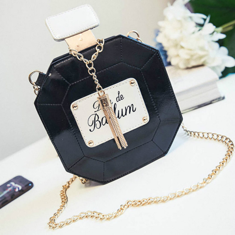 a92bd3932b Detail Feedback Questions about Fashion Women PULeather Mini Bottle Chain  Perfume Evening Bags Female Handbag Party Clutch Bag Messenger Crossbody  shoulder ...