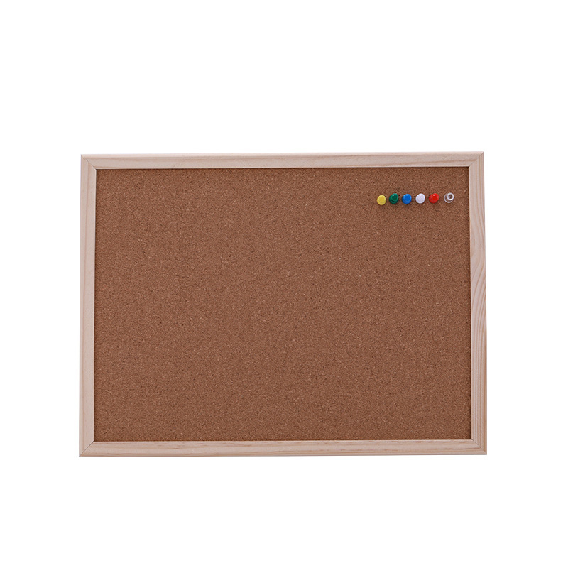1PCS Cork Message Board 30*40cm Board Cork Needle Board Combination Drawing Board Pine Wood Frame