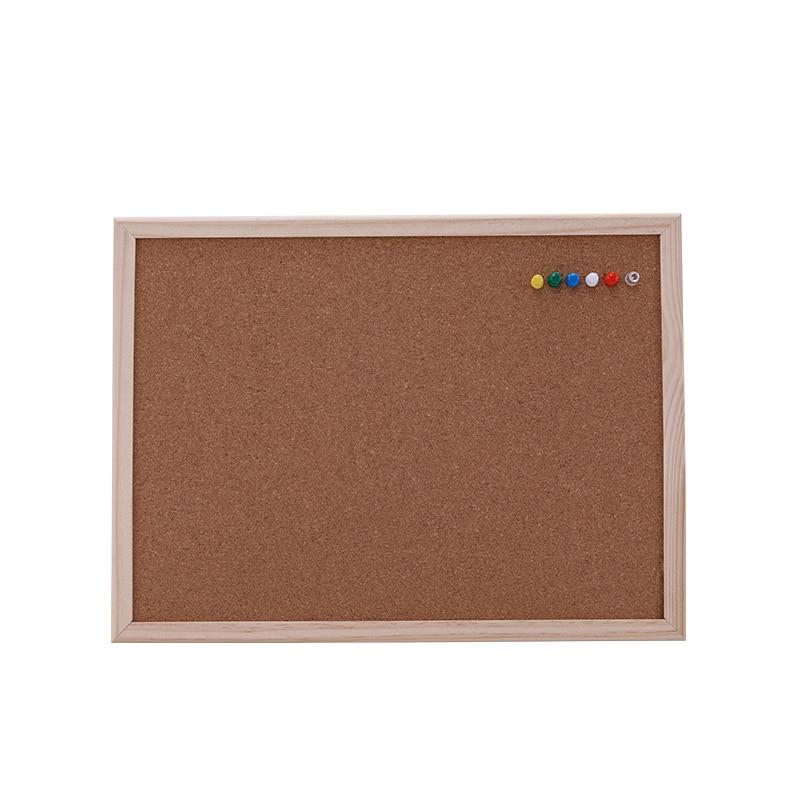 1PCS Cork Message Board 30*40cm Board Cork Needle Board Combination Drawing Board Pine Wood Frame