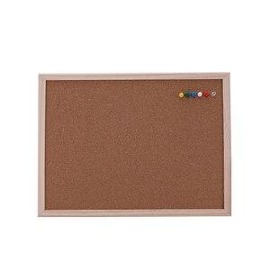 Image 1 - 1PCS cork message board 30*40cm board Cork needle Board Combination Drawing Board Pine Wood Frame