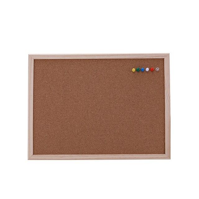 1PCS kurk prikbord 30*40cm board Kurk naald Board Combinatie Tekentafel Grenen Frame