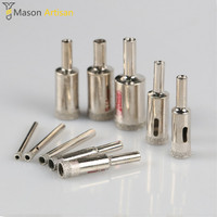 4 20mm Electroplate Glass Tile Open Hole Diamond Drill Bits Cutter Tool