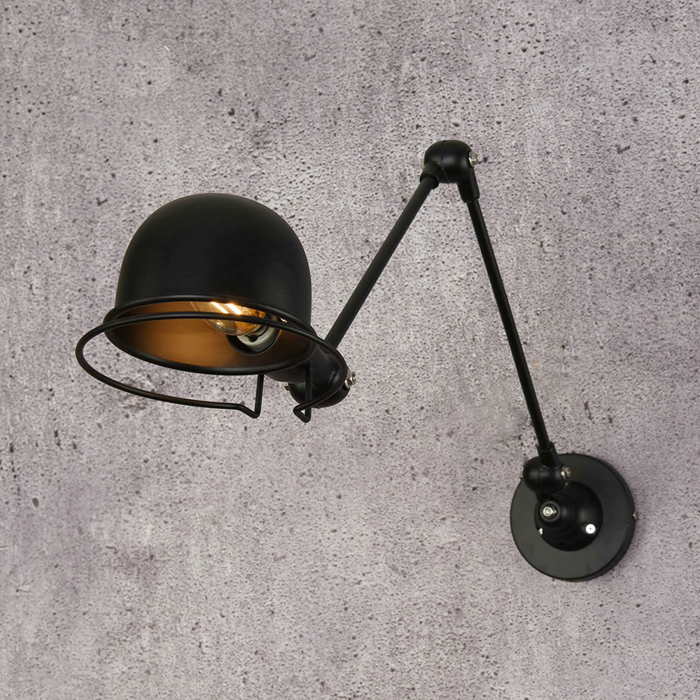 Vintage Adjustable Industrial Metal E14 Wall Light Retro Country Style Sconce Wall Lamp for Loft Bar Cafe Home Corridor цена