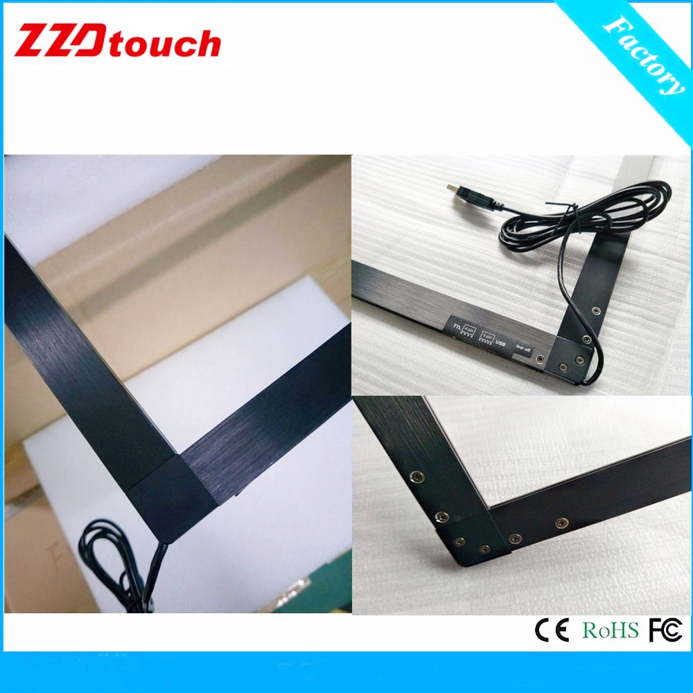 Image 2 - ZZDtouch 55 inch IR touch frame 10 points usb infrared touch screen panel multi touchscreen overlay for touch screen monitor pc-in Touch Screen Panels from Computer & Office