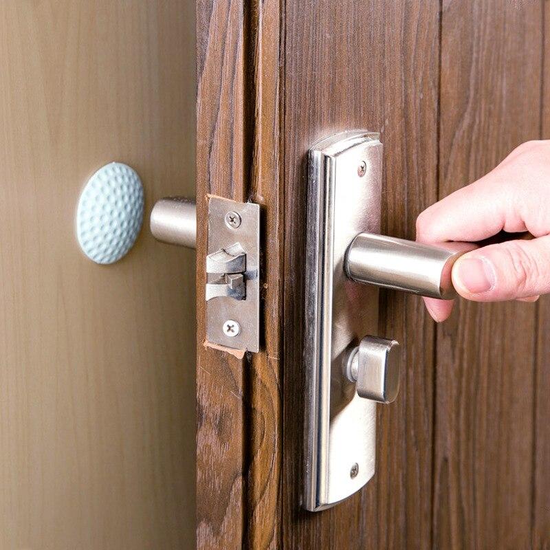 Mrosaa 1pcs 3D Wall Stickers Wall Thickening Mute Door Rubber Fenders Stickers Handle Door Lock Furniture Protective Crash Pad