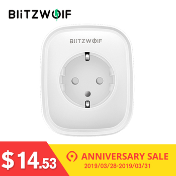 BlitzWolf BW-SHP2 WIFI Smart Socket 220V 16A Remote Control Smart Timing Switch EU Plug Work For Amazon Alexa/Google Assistant