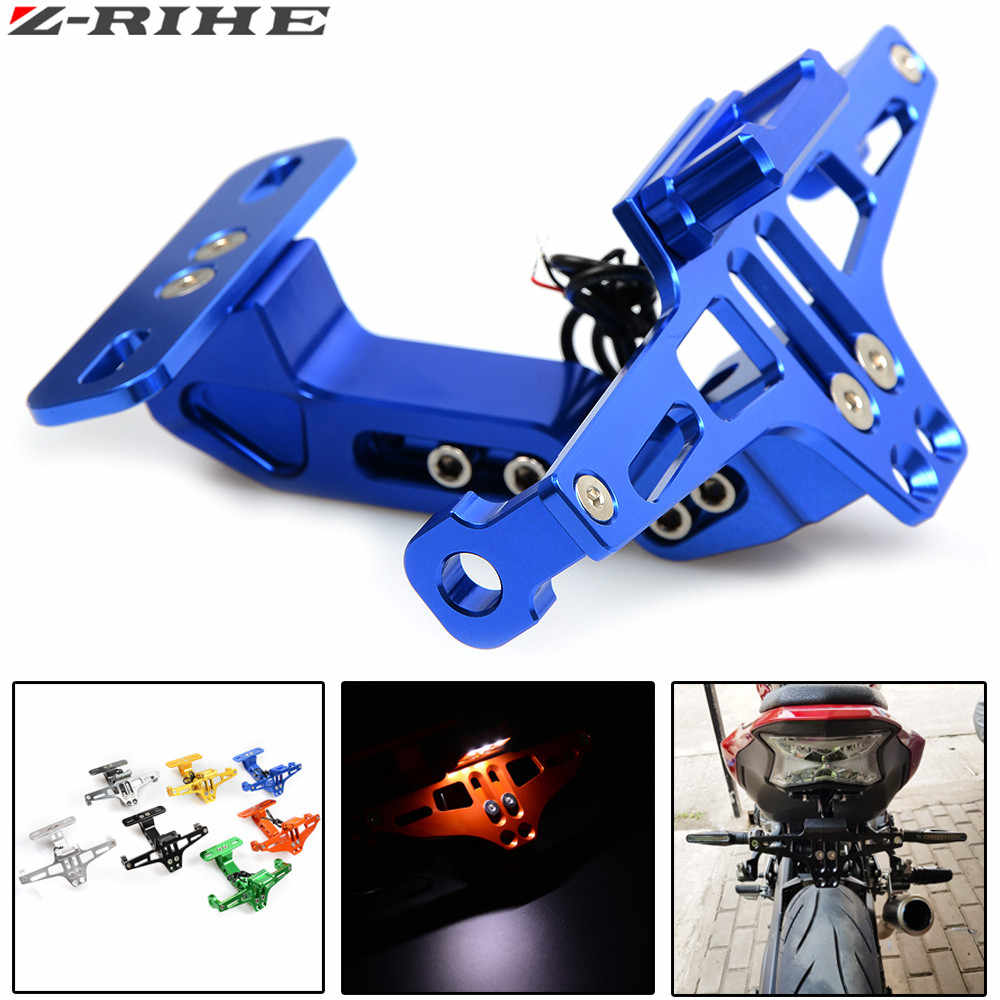 Motorcycle License Plate Bracket Licence Plate Holder Frame Number Plate For Suzuki SV650 SV650S 1999-2009 SV 650 650S 1999-2016