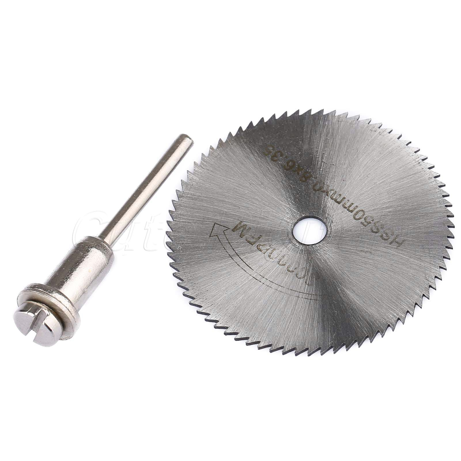 1pc HSS 50mm Steel Cutting Disc Rotary Tools Circular Saw Blade Cutter Cut Off Wheel Disc W/ Mandrel For ABS Wood Plastic Cutter