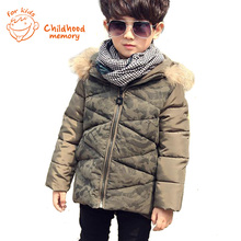 Boys Winter Coat European Style Camouflage Child Down Coat 2015 New Brand Kids Cotton Jacket For Teenage Boys Padded Outwear