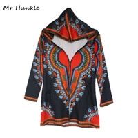2017 Autumn Women Dashiki Coats Traditional Hoodies Jacket Plus Size Traditional African Clothing Chaquetas Mujer Long