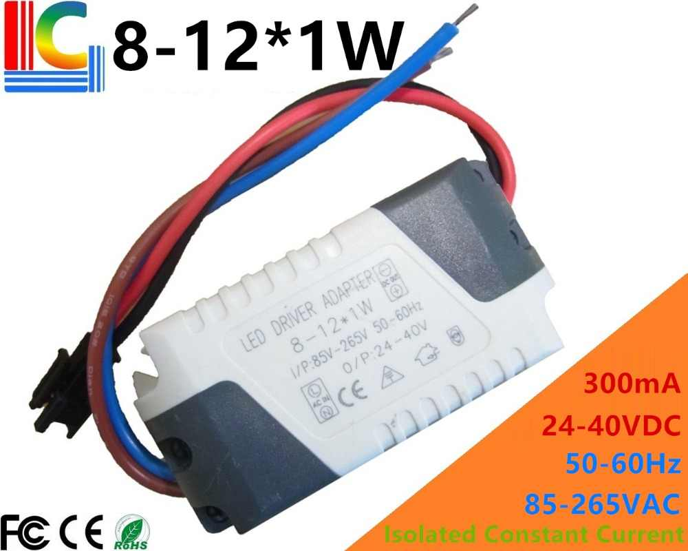 detail feedback questions about 1w 2w 3w led driver adapter 300ma