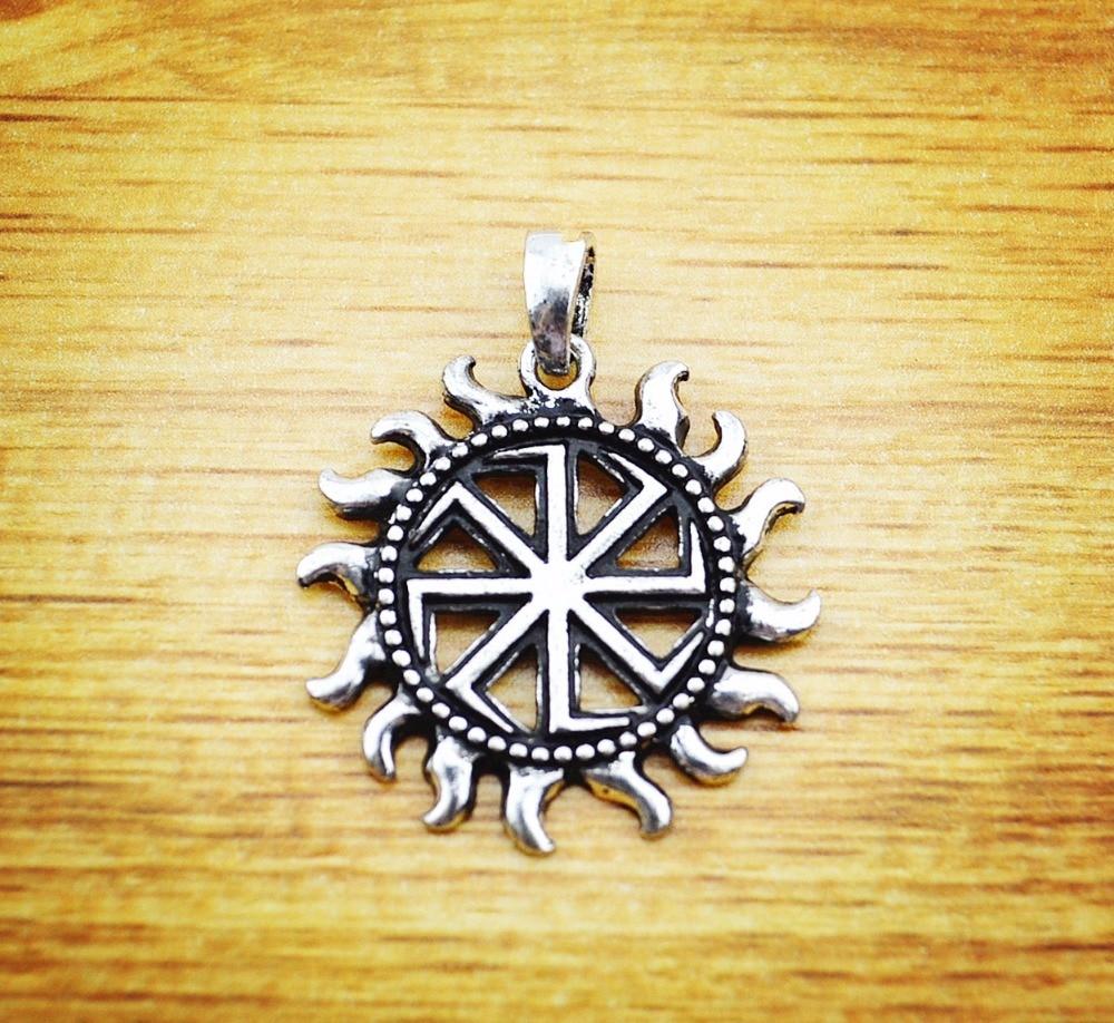 new 2016 Silve Slavic Kolovrat Pendants Slavic Amulet Pendants - მოდის სამკაულები - ფოტო 3