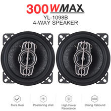 2pcs 4 Inch 300W Way Car Coaxial Speaker Auto Music Stereo Full Range Frequency Hifi Loudspeaker Non-destructive