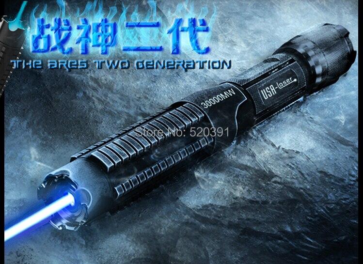 Plus Puissant 100000 mw 100 W 450nm Haute Puissance Bleu Pointeurs Laser lampe de Poche Brûler L'allumette Bougie Cigarette Allumée Méchants LAZER torche