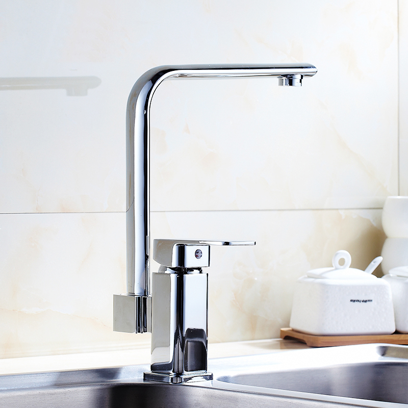Здесь можно купить  Copper valve single hole kitchen sink/dish basin faucet hot and cold, Rotated mixer water tap chrome plated Whosale Or Retail Copper valve single hole kitchen sink/dish basin faucet hot and cold, Rotated mixer water tap chrome plated Whosale Or Retail Строительство и Недвижимость
