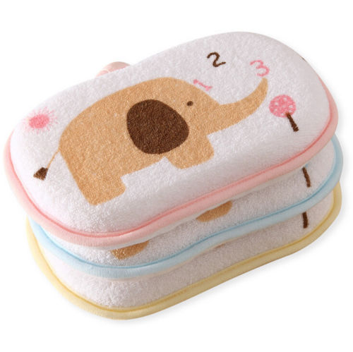 1PC Cartoon Cute Newborn Baby Child Cotton Bath Supplies Baby Bath Support Towel Bath Sponge Rubbing Body Wash Towel Accessories