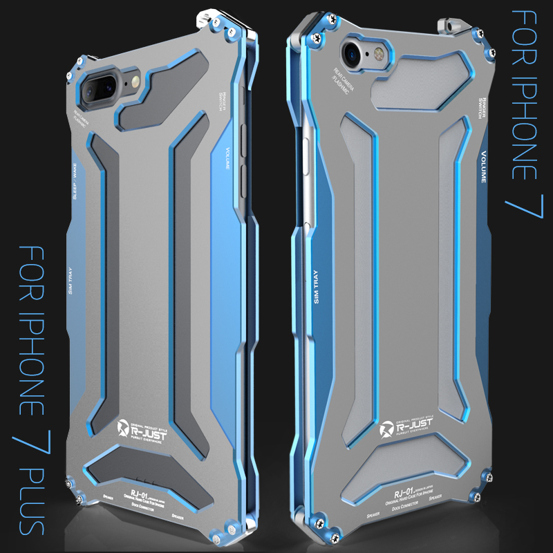 Phone Case For iPhone 6S plus, Heavy Duty Aluminum Metal Waterproof Shockproof  Protective Back Cover