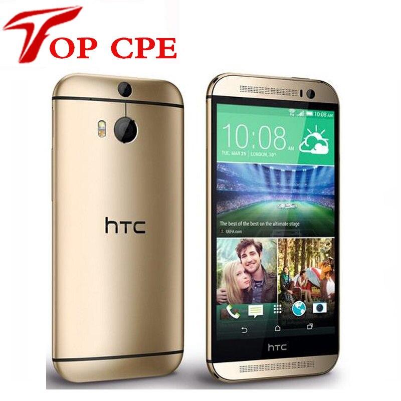"""Цена за 5.0 """"оригинальный разблокирована htc one m8 m8 мобильный телефон quad core android 4.4 ram 2 ГБ + rom 16 ГБ/32 ГБ bluetooth восстановленное сотовый телефон"""