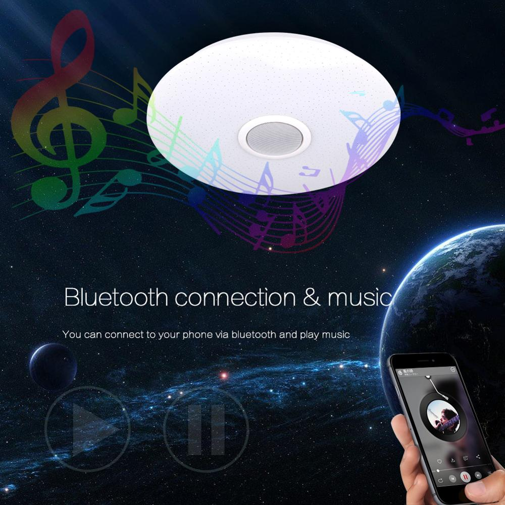 Modern LED Ceiling Light Bluetooth Music RGB Dimmable Lamp 36W 40W APP Remote Control AC 220V Modern LED Ceiling Light Bluetooth Music RGB Dimmable Lamp 36W 40W APP Remote Control AC 220V 240V Colourful Party Bedroom
