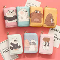 cartoon bear Wristband Women short Clutch Wallet Standard Wallets Female Purse Lady Purses Coin Pocket Card Holder Carteras