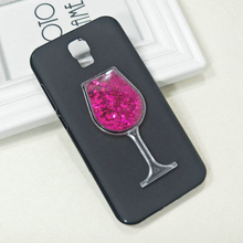 Dneilacc ТПУ Силиконовые чехлы для Umi Рим X красное вино стекло жидкость ТПУ с песчаным декором Силиконовая задняя крышка для Umi Рим X