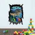 Nueva FINDING NEMO Fish Fondos Marinos Movilización General de Baño de Dibujos Animados Nemo 3D Pegatinas de Pared Decoración Vinilo Removible Parvulario Niños