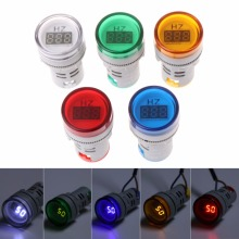 22mm Hertz AC Frequency Meter LED Digital Display Indicator Signal Lamp Lights цена