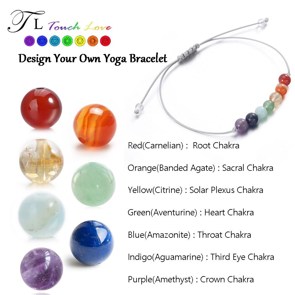 Tl 7 Chakra Healing Balance Beads Bracelet 6mm Yoga