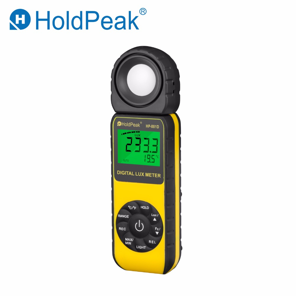 HoldPeak HP-881D Digital LUX Meter 4000,000 LUX/FC selection High Precision Digital Luxmeter Handheld Type Illuminometer Meter цена