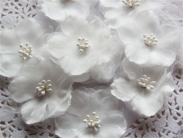 30pc 7cm 3d white organza flower patch fabric flowers applique 30pc 7cm 3d white organza flower patch fabric flowers applique patches for clothing clothes parches bordados mightylinksfo Images