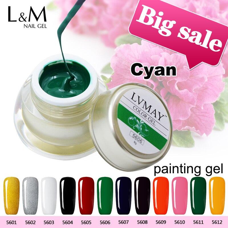 3 Jars Set Lvmay 3D Nail Art Color Gel 12 Colors Draw Painting ...