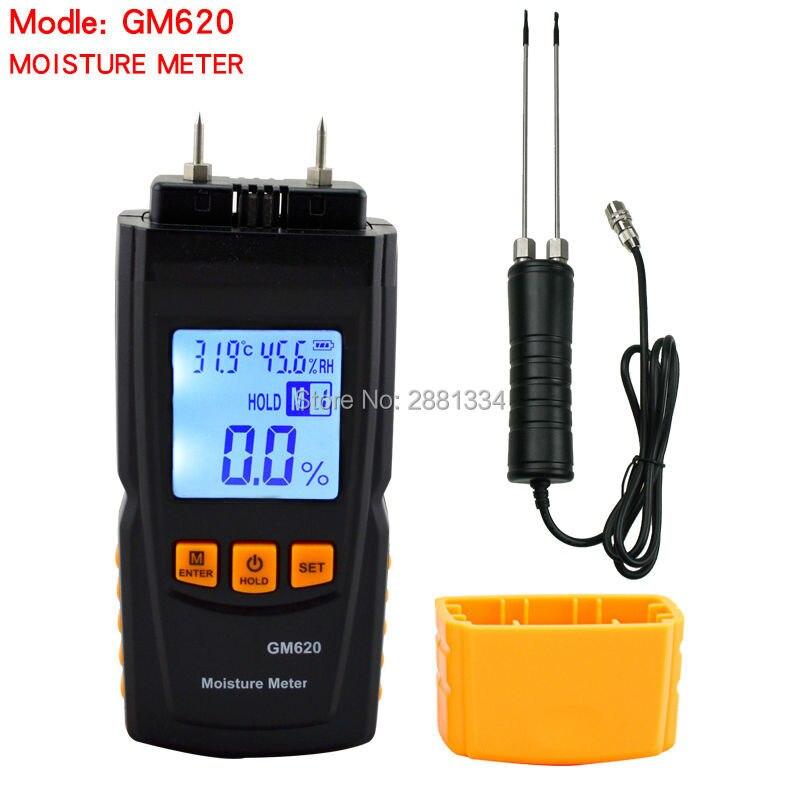 Haute qualité GM620 numérique LCD affichage bois humidimètre 2 ~ 70% humidité testeur bois humide détecteur portable