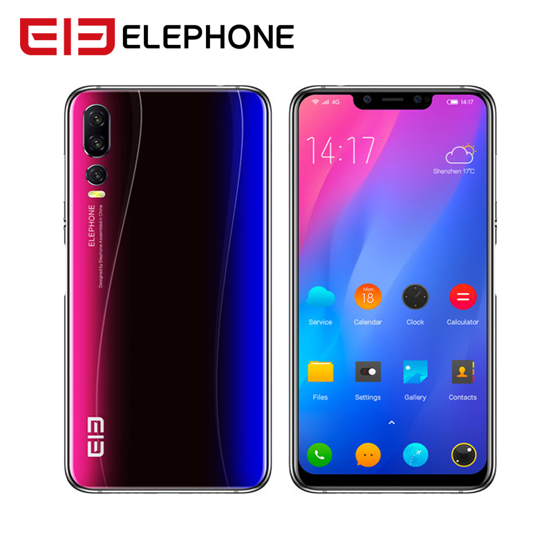 "New Elephone A5 Android 8.1 6.18"" 18.7:9 P60 MT6771 Quad Core 4GB RAM 64GB ROM 12MP+20MP Face Unlock Fingerprint 4G Mobile Phone"