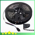 Cool ! Waterproof 5050 Black PCB LED RGB Strip Black-matrix 5M 60LEDs/M RGB Blackbase LED Strip Light Ribbon Free Shipping